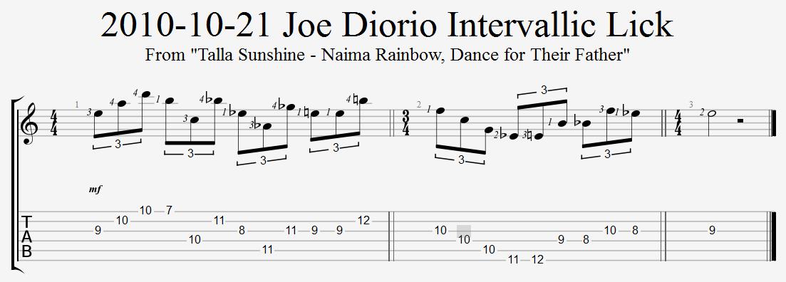 Joe Diorio Intervallic Lick