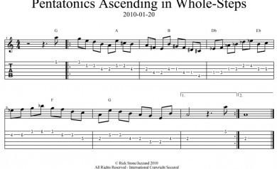 Pentatonics Ascending in Whole-Steps