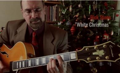 Rick Stone White Christmas jazz guitar chord solo (thumbnail)